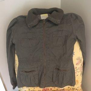 Sz S Charlotte Russe Olive Lightweight Jacket